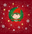 seamless pattern with elf holiday wallpaper vector image