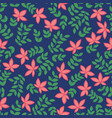 seamless pattern with red flowers decorative vector image vector image