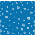 Seamless pattern with snowflakes and snow Retro vector image vector image