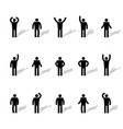 set of stick figures vector image vector image