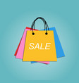 set shopping bags colorful for poster sale vector image vector image