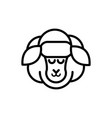 sheep farm rural agriculture thick line vector image