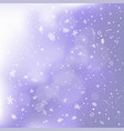 snowfall on blue snowy clouds backdrop vector image vector image