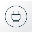 socket icon line symbol premium quality isolated vector image vector image