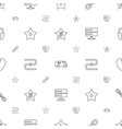 system icons pattern seamless white background vector image vector image
