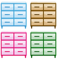 Tables with drawers vector image