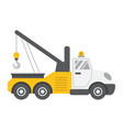 tow truck flat icon transport and vehicle vector image vector image