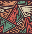 tribal grunge pattern vector image vector image