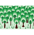 vector forest vector image vector image