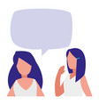 young women couple talking characters vector image vector image