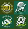 golf trophy cup or bowl ball for t-shirt print vector image