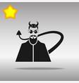 devil black icon button logo symbol vector image