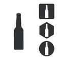 Alcohol icon set monochrome vector image