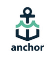 anchor with wave vector image vector image