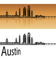 Austin skyline in orange vector image vector image