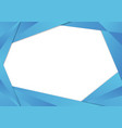 blue triangle frame border vector image vector image