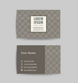 business card art deco design template 06 vector image vector image