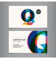 Business card template letter Q vector image vector image