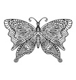 butterfly ornament on a white background vector image vector image