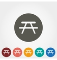 Camping table icon vector image vector image
