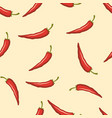 chili pepper colored seamless pattern vector image vector image