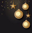 christmas background with vector image vector image