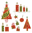 Christmas xmas design elements vector image vector image