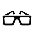cinema glasses icon black silhouette icon vector image vector image