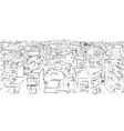 Cityscape sketch seamless pattern for your design vector image vector image