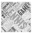 Coaching Tennis Word Cloud Concept vector image