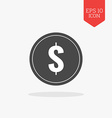 Coin icon Flat design gray color symbol Modern UI vector image vector image