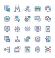 collection modern technology icons vector image vector image