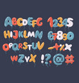 colorful balloon font and alphabet vector image vector image