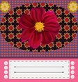 Colorful floral greeting card vector image vector image