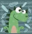 cute funny crazy dinosaur characters vector image vector image