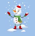 cute snowman christmas vector image