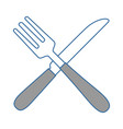 cutlery set isolated icon vector image vector image