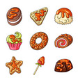 dessert and sweet symbol vector image vector image