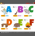 educational cartoon alphabet letters for children vector image vector image