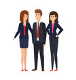 elegant business people avatars characters vector image vector image