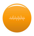 equalizer beat icon orange vector image