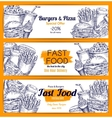 Fast food restaurant banners set vector image vector image