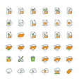 Files and folders flat design icon set File type vector image