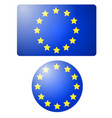 flag of european union banner and button vector image