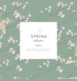 floral spring social media banner for advertising vector image