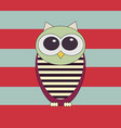 funny owl vector image