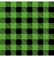 Green and Black Pattern Flannel Background vector image