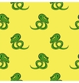 Green Snake Seamless Background vector image vector image