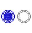 grunge spamware scratched stamp seals vector image vector image