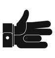 hand abstract icon simple black style vector image vector image